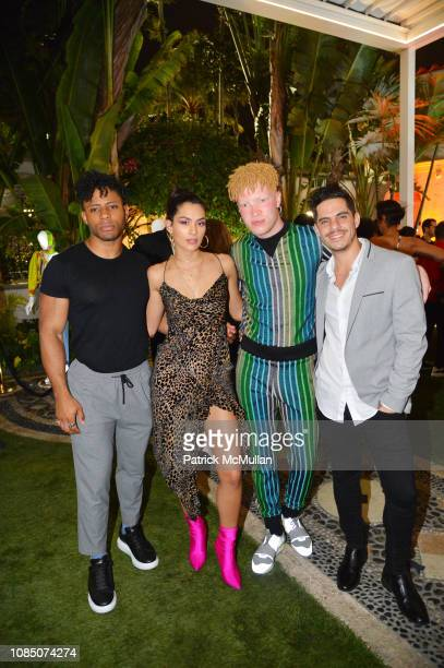 Kaleb O Lee Alaya Shaun Ross and Matias Fontenla attend What Goes Around Comes Around 25th Anniversary Celebration At The Versace Mansion With A...