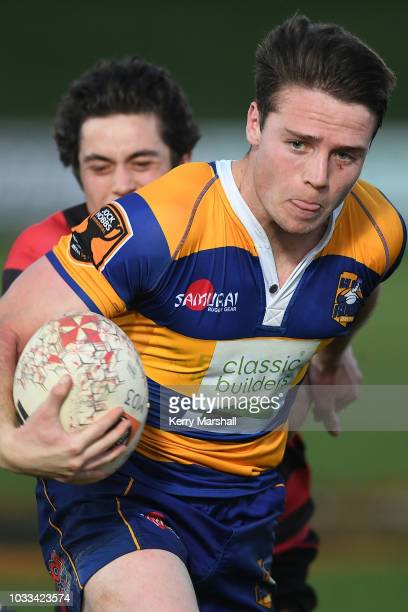 Kaleb Trask of the Bay of Plenty in action during the Jock Hobbs U19 Rugby Tournament on September 15 2018 in Taupo New Zealand