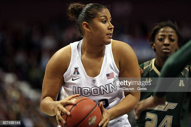 Kaleena MosquedaLewis UConn in action during the UConn Huskies Vs USF Bulls Basketball Final game at the American Athletic Conference Women's College...