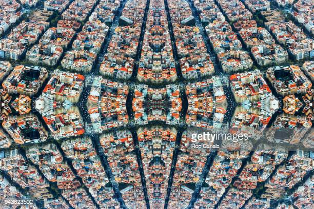 kaleidoscope barcelona - symmetry stock pictures, royalty-free photos & images