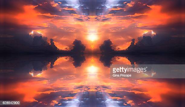 kaleidoscope effect of a sunset. - vero beach stock pictures, royalty-free photos & images