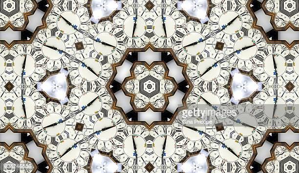 Kaleidoscope effect of a wall clock.