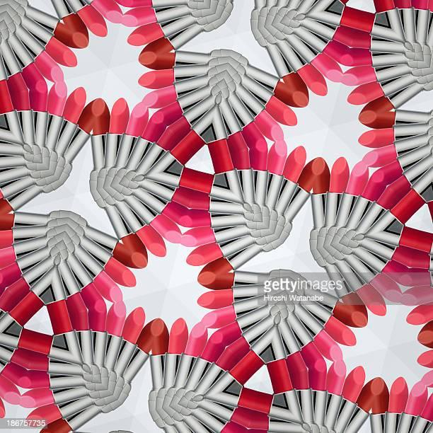 Kaleidoscope of lipsticks