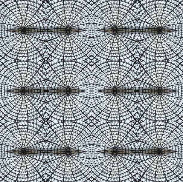 Kaleidoscope of metal and glass design patterns
