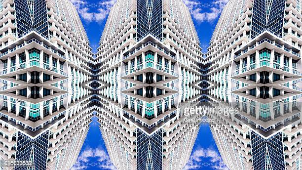 Kaleidoscope of modern buildings.