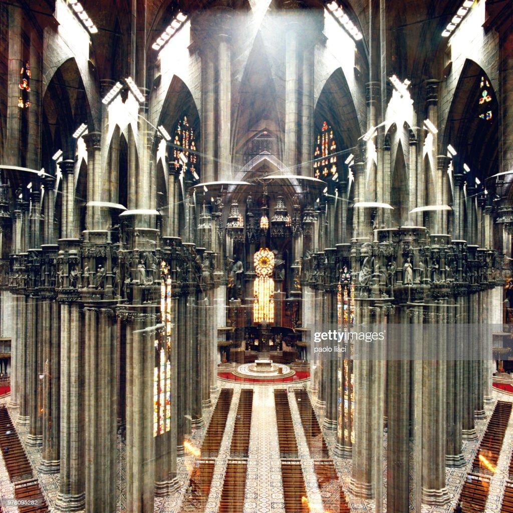kaleidoscopic Duomo : Stock Photo