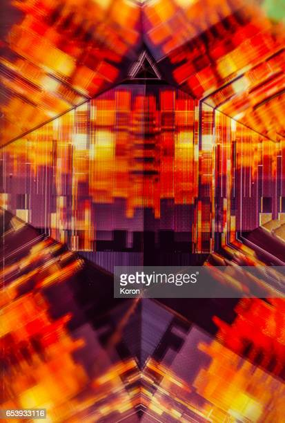 kaleidoscopic glitch - glitch art stock photos and pictures