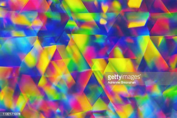 kaleidoscopic pattern of lights - kaleidoscope stock photos and pictures