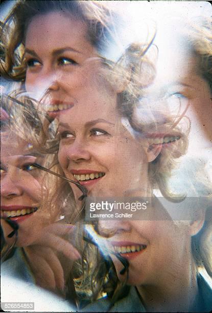 Kaleidoscopic portrait of American actress Elizabeth Montgomery 1964