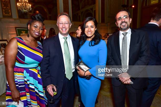 Kalela Thompson, Tim Pryor, Elizabeth Ormaza and Joseph Younan attend The 2018 CBTF Dream & Promise Gala at The Plaza Hotel on June 6, 2018 in New...