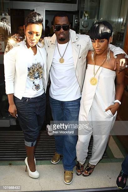 Kalenna P Diddy and Dawn Richard sighted outside BBC Radio One on June 11 2010 in London England