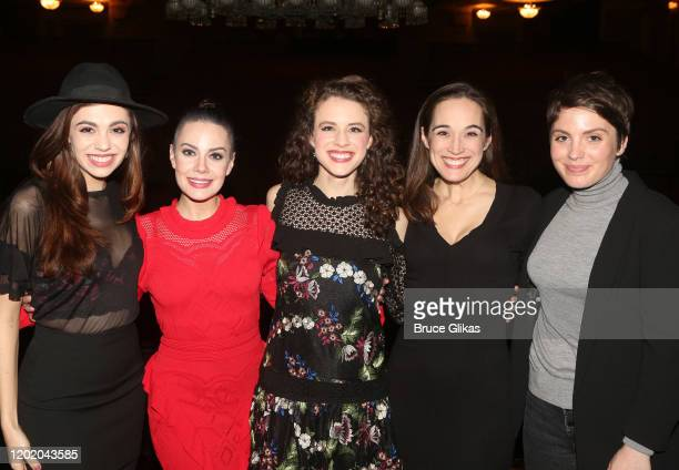 Kaley Ann Voorhees Meghan Picerno Eryn LeCroy Elizabeth Welch and Mary Michael Patterson pose at the 32nd Anniversary Performance and Party for The...