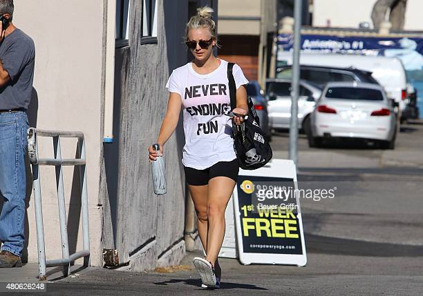 Kaley Cuoco after Yoga on July 13 2015 in Los Angeles California