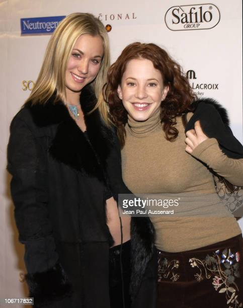 Kaley Cuoco Amy Davidson during Unusual Suspects Holiday Benefit Party Sponsored by Venice Magazine and Mediaplacement at Nacional in Hollywood...