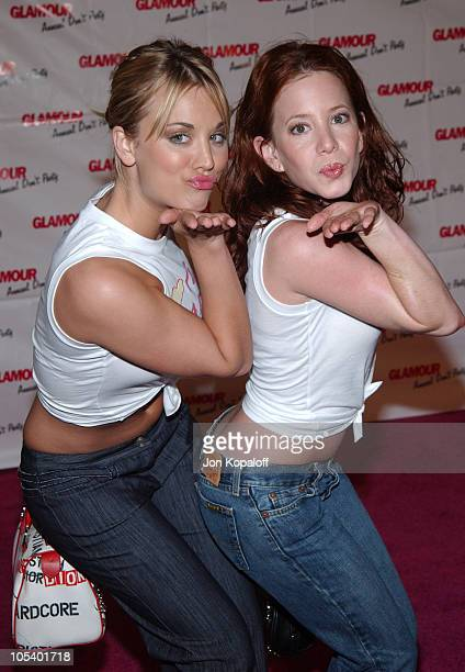 Kaley Cuoco and Amy Davidson during Glamour Magazine's Don't Party at Del Taco at Del Taco in Hollywood California United States