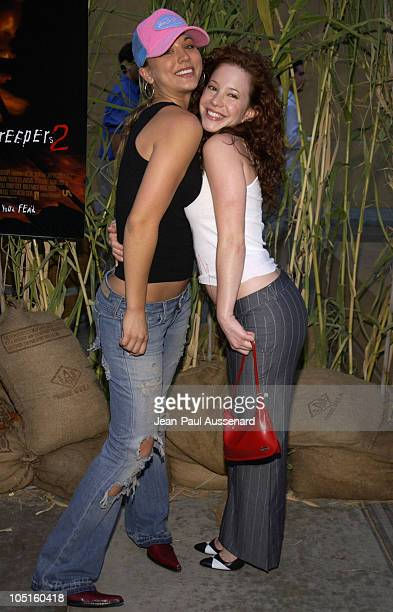 Kaley Cuoco and Amy Davidson during Jeepers Creepers 2 Los Angeles Premiere in Hollywood California United States