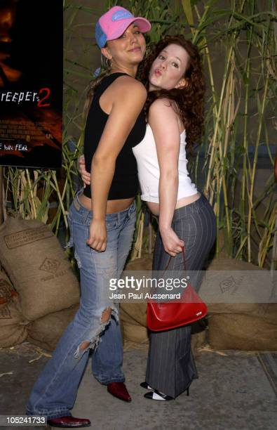 Kaley Cuoco and Amy Davidson during 'Jeepers Creepers 2' Los Angeles Premiere in Hollywood California United States