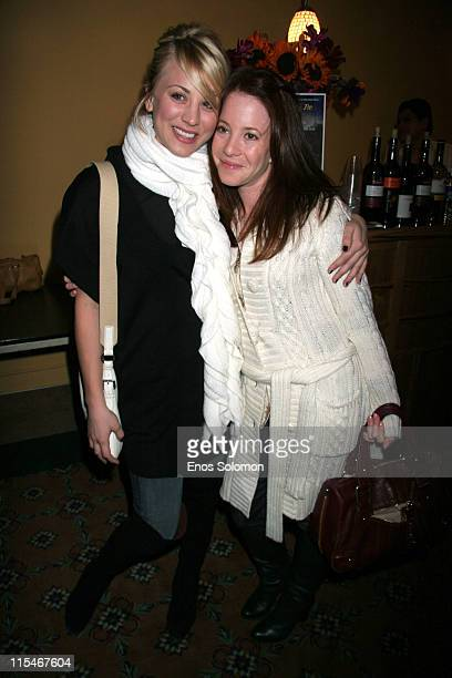Kaley Cuoco and Amy Davidson during There Used To Be Fireflies Opening Night January 20 2007 at Play Opening in Los Angeles California United States