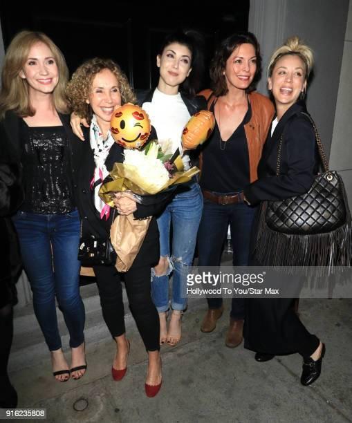 Kaley Cuoco and Briana Cuoco are seen on February 8 2018 in Los Angeles California