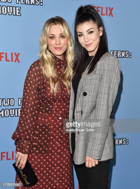 Kaley Cuoco and Briana Cuoco attend the LA Premiere of Netflix's Between Two Ferns The Movie at ArcLight Hollywood on September 16 2019 in Hollywood...