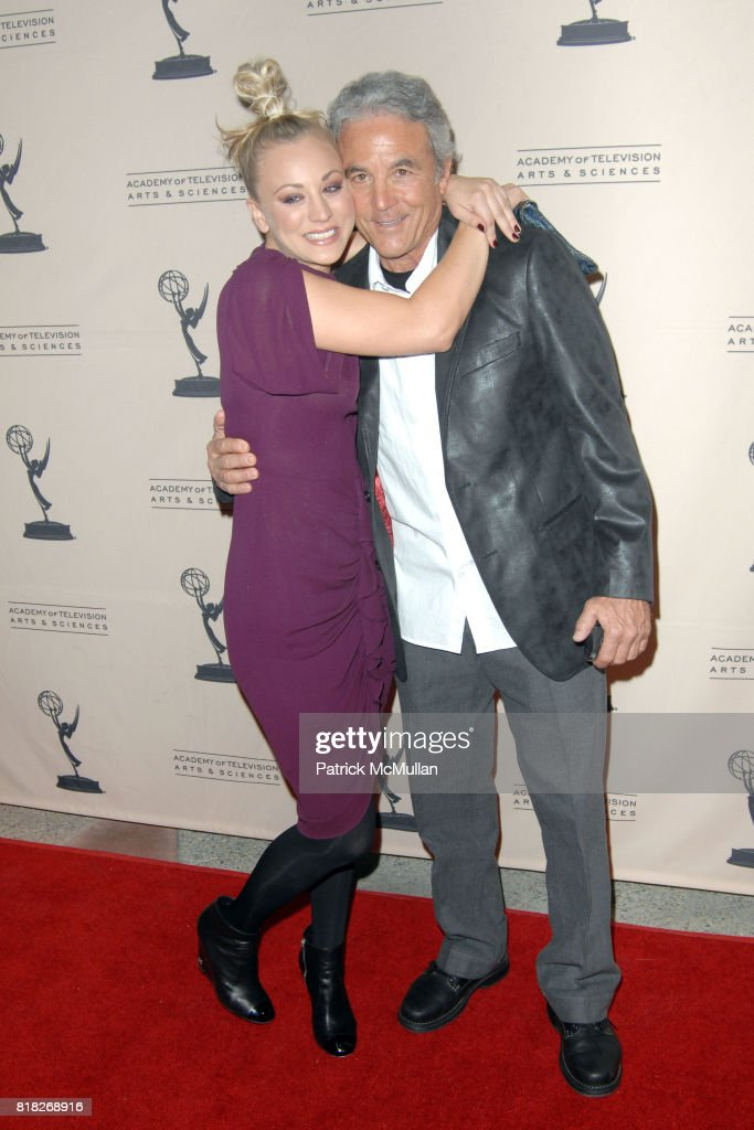 Kaley Cuoco and Gary Cuoco attend The Academy of Television Arts and Sciences Presents an Evening with 'The Big Bang Theory' at North Hollywood on February 18, 2010.