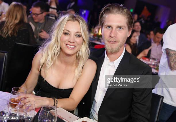 Kaley Cuoco and Karl Cook attend Seth Rogen's Hilarity For Charity at Hollywood Palladium on March 24, 2018 in Los Angeles, California.