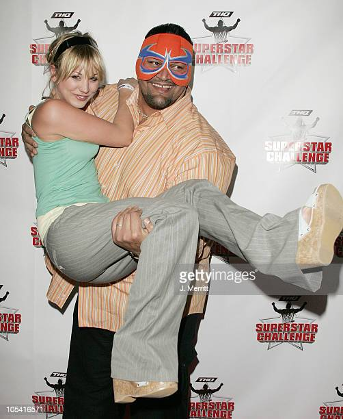 Kaley Cuoco and Rosie during Wrestlemania Goes Hollywood at The House Of Blues in Hollywood, California, United States.