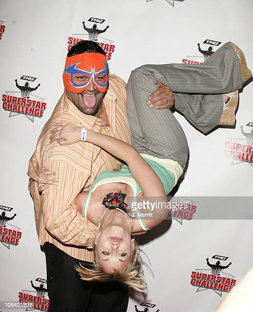 Kaley Cuoco and Rosie during Wrestlemania Goes Hollywood at The House Of Blues in Hollywood California United States