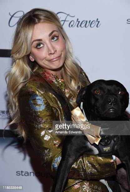 Kaley Cuoco and Todd the Pitbull arrive at the 9th Annual Stand Up For Pits event hosted by Kaley Cuoco at The Mayan on November 03 2019 in Los...