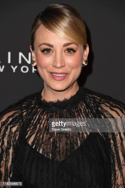 Kaley Cuoco arrives at the 2019 InStyle Awards at The Getty Center on October 21, 2019 in Los Angeles, California.