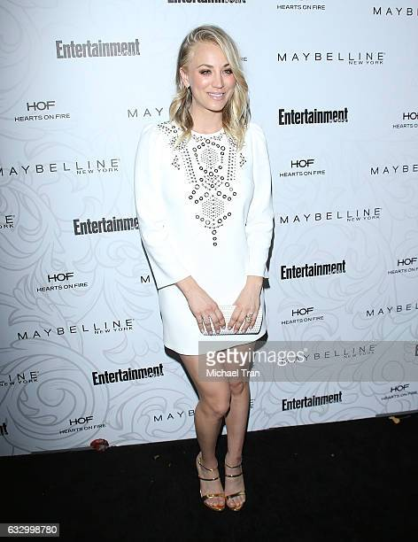 Kaley Cuoco arrives at the Entertainment Weekly hosts celebration honoring nominees for The Screen Actors Guild Awards held at Chateau Marmont on...