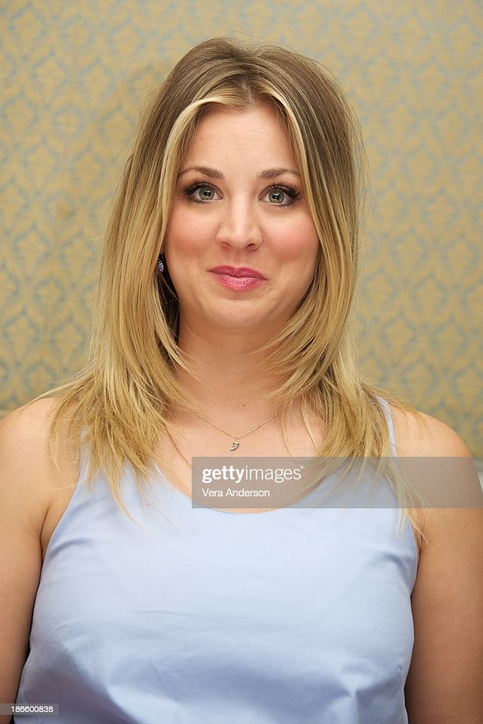 Kaley Cuoco at 'The Big Bang Theory' Press Conference at the Four Seasons Hotel on October 30, 2013 in Beverly Hills.