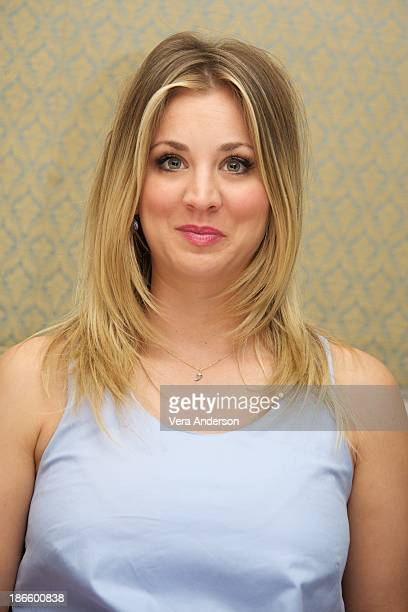Kaley Cuoco at 'The Big Bang Theory' Press Conference at the Four Seasons Hotel on October 30 2013 in Beverly Hills