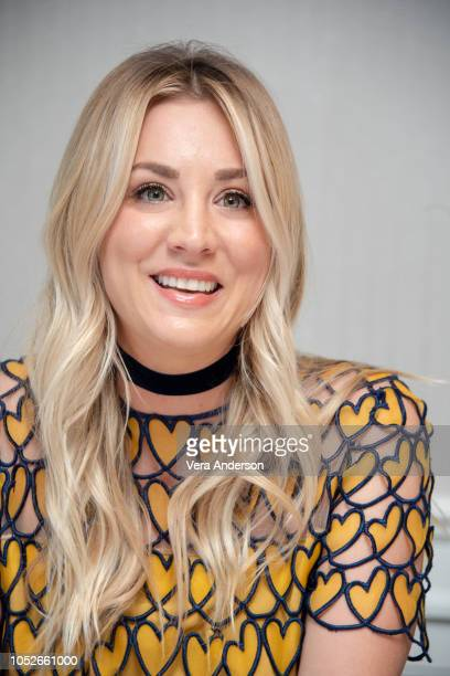 "Kaley Cuoco at ""The Big Bang Theory"" Press Conference at the London Hotel on October 19, 2018 in West Hollywood, California."