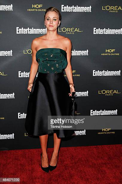 Kaley Cuoco attends Entertainment Weekly's PreEmmy party at Fig Olive Melrose Place on August 23 2014 in West Hollywood California
