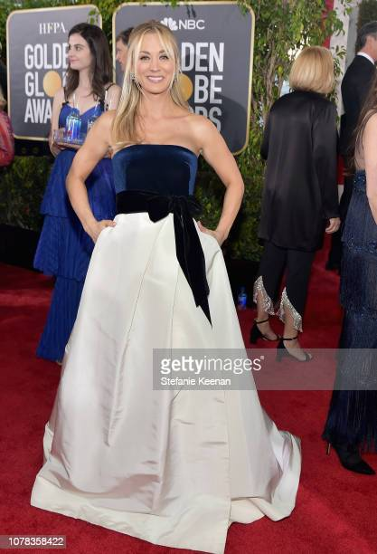 Kaley Cuoco attends FIJI Water at the 76th Annual Golden Globe Awards on January 6 2019 at the Beverly Hilton in Los Angeles California