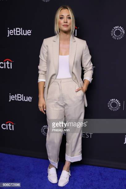 Kaley Cuoco attends PaleyFest Los Angeles 2018 The Big Bang Theory and Young Sheldon at Dolby Theatre on March 21 2018 in Hollywood California