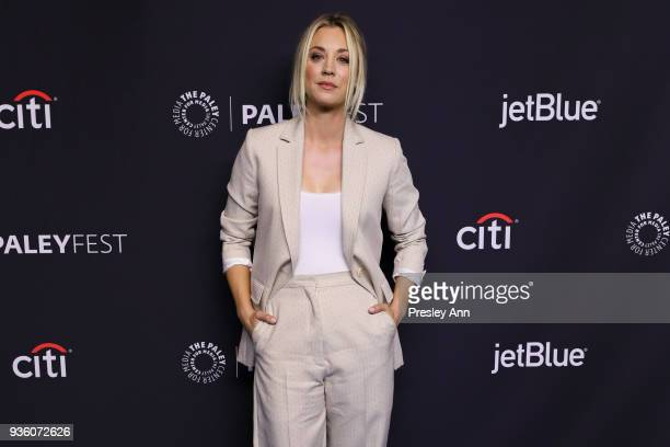 "Kaley Cuoco attends PaleyFest Los Angeles 2018 - ""The Big Bang Theory"" and ""Young Sheldon"" at Dolby Theatre on March 21, 2018 in Hollywood,..."