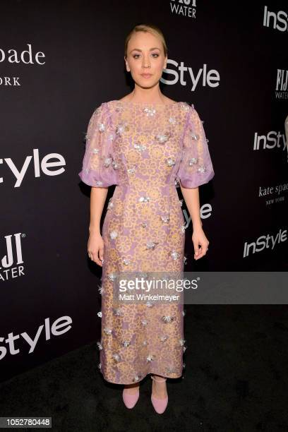 Kaley Cuoco attends the 2018 InStyle Awards at The Getty Center on October 22 2018 in Los Angeles California