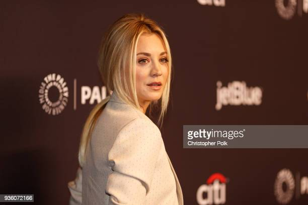 Kaley Cuoco attends the 2018 PaleyFest Los Angeles CBS's 'The Big Bang Theory' And 'Young Sheldon' on March 21 2018 in Hollywood California