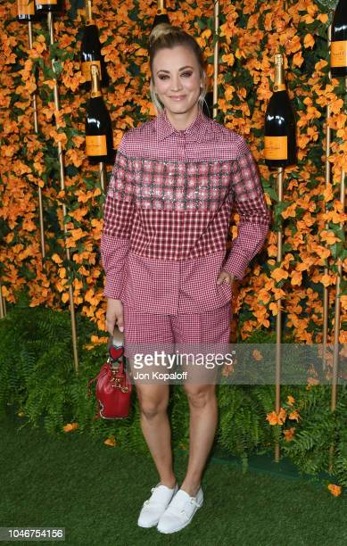 Kaley Cuoco attends the 9th Annual Veuve Clicquot Polo Classic Los Angeles at Will Rogers State Historic Park on October 6, 2018 in Pacific...