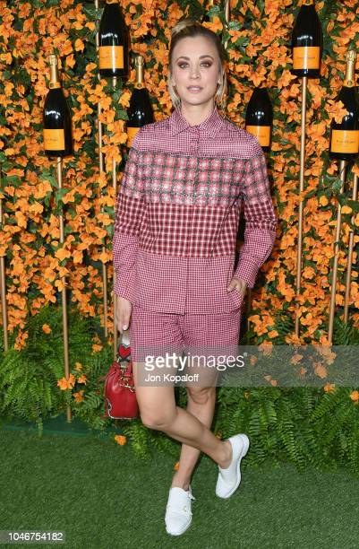 Kaley Cuoco attends the 9th Annual Veuve Clicquot Polo Classic Los Angeles at Will Rogers State Historic Park on October 6 2018 in Pacific Palisades...