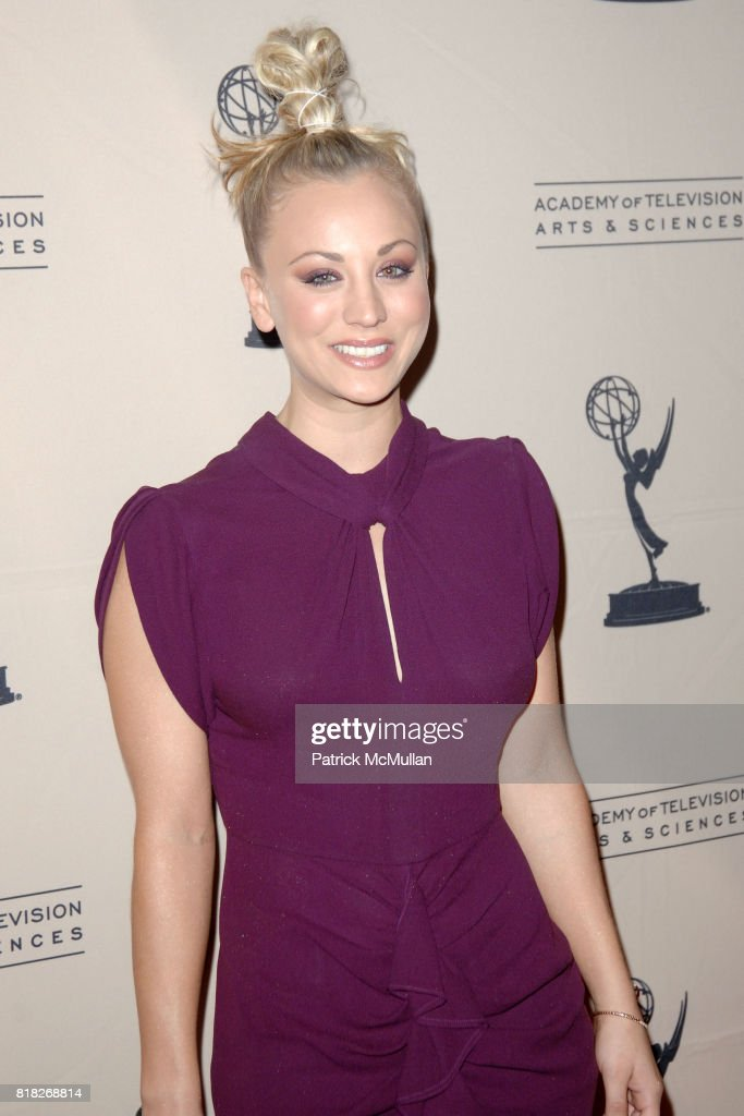 Kaley Cuoco attends The Academy of Television Arts and Sciences Presents an Evening with 'The Big Bang Theory' at North Hollywood on February 18, 2010.