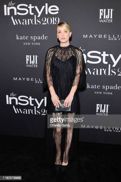 Kaley Cuoco attends the Fifth Annual InStyle Awards with FIJI Water on October 21, 2019 in Los Angeles, California.
