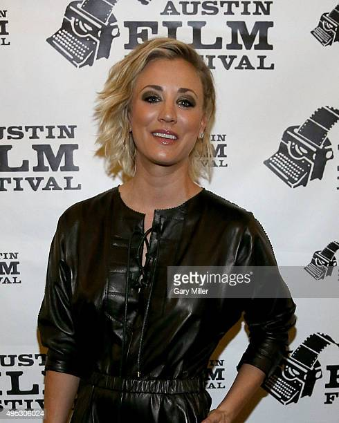 Kaley Cuoco attends the world premiere of the new film Burning Bohdi at Paramount Theatre on November 1 2015 in Austin Texas