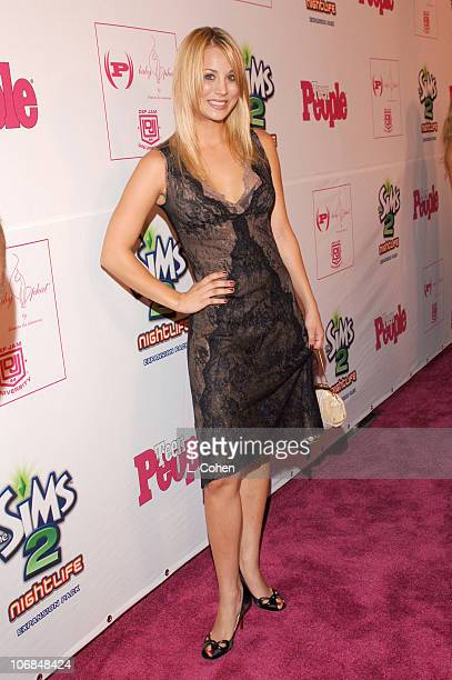 Kaley Cuoco during Teen People Celebrates 2nd Annual Young Hollywood Issue Sponsored by EA Games and Baby Phat Red Carpet at Cabana Club in Hollywood...