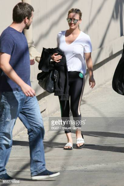 Kaley Cuoco is seen on September 28 2017 in Los Angeles California