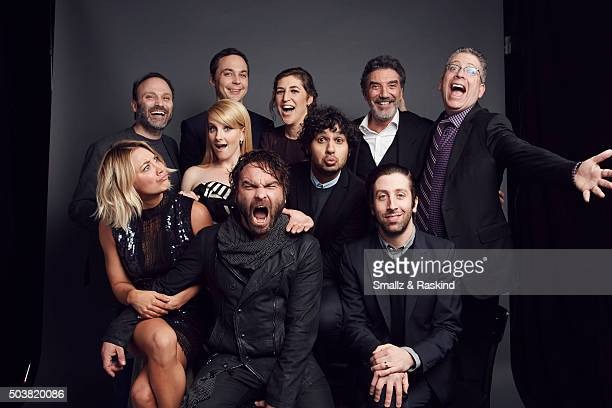 Kaley Cuoco Johnny Galecki Melissa Rauch Kunal Nayyapose Simon Helberg Steven Molaro Jim Parsons Mayim Bialik Chuck Lorre and Bill Prady of 'The Big...