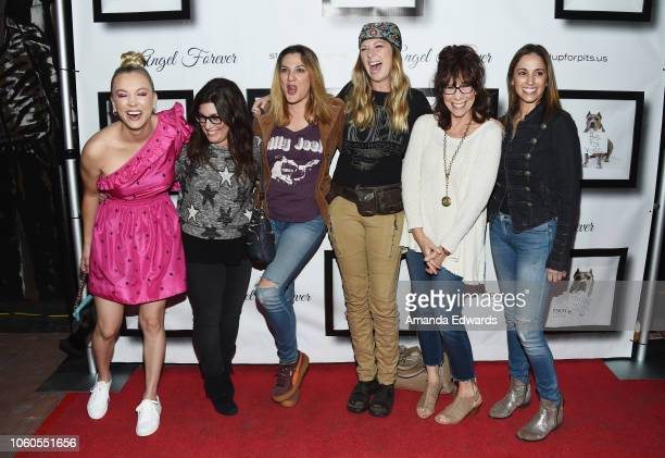 Kaley Cuoco, Rebecca Corry, Dana Min Goodman, Mo Collins, Mindy Sterling and Julia Lea Wolov arrive at the 8th Annual Stand Up For Pits at the...