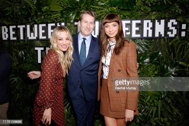 Kaley Cuoco Scott Aukerman and Lauren Lapkus attend Netflix's special screening of Between Two Ferns The Movie on September 16 2019 in Los Angeles...